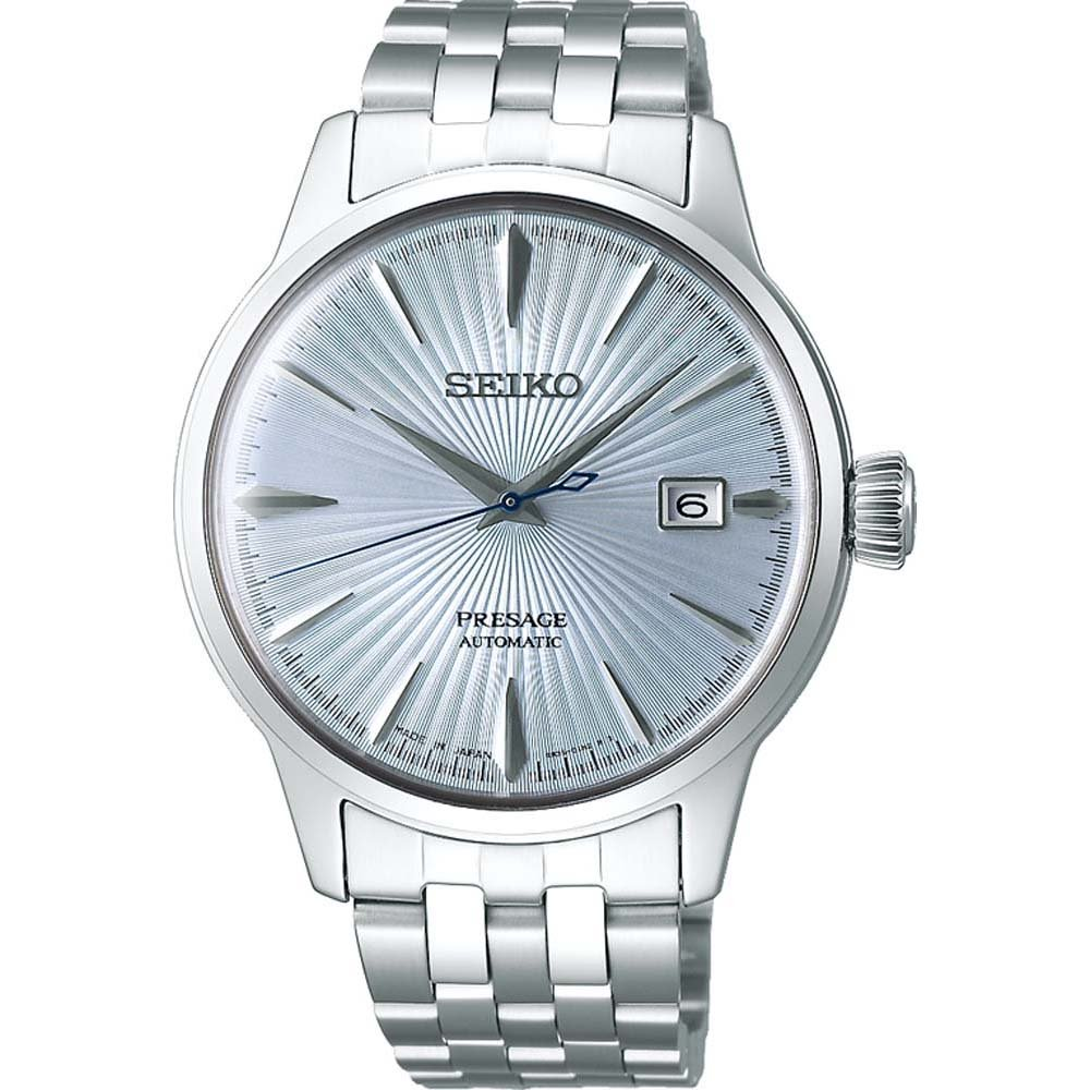 Seiko Presage SRPE19J Cocktail Time Automatic Stainless Steel Mens Watch