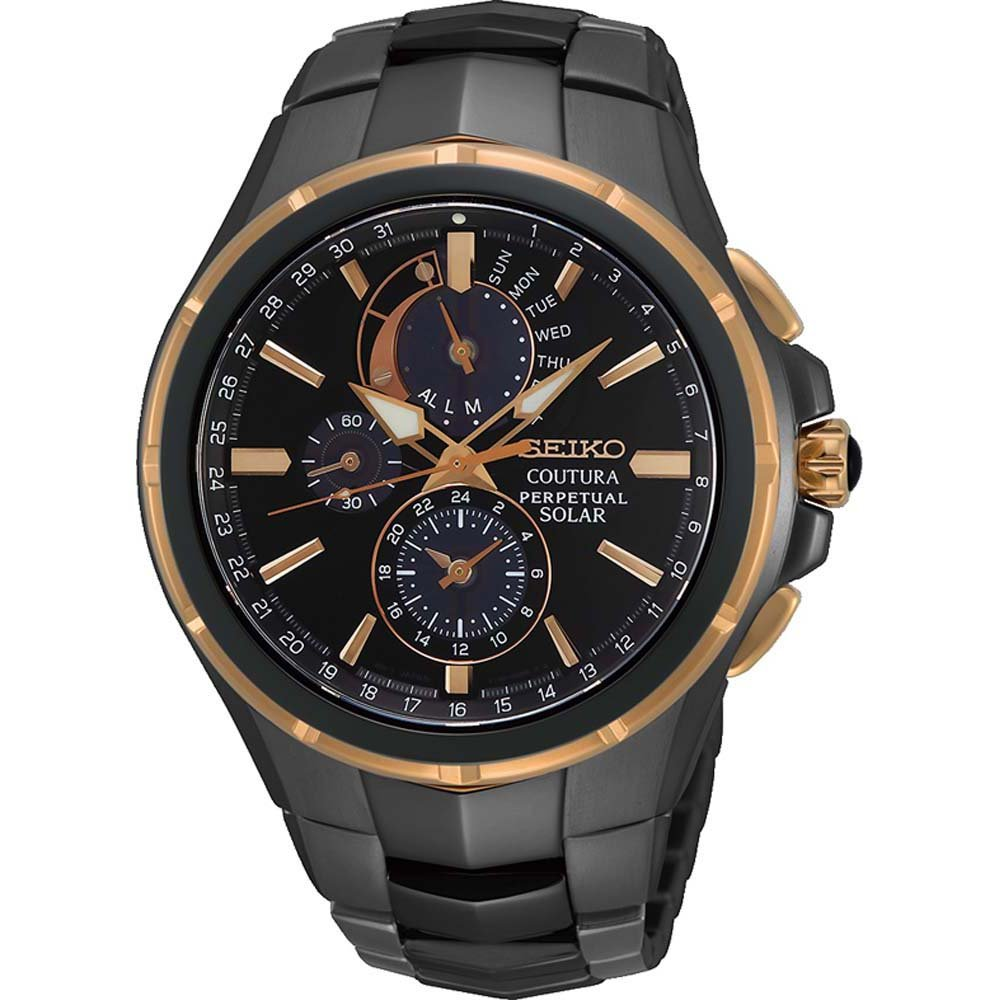 Seiko Coutura SSC766P Solar Perpetual Calndar Stainless Steel Mens Watch