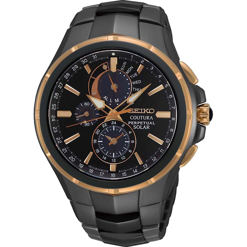 Seiko Coutura SSC766P Solar Perpetual Calendar Stainless Steel Mens Watch