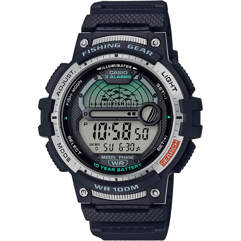Casio WS1200H-1A Fishing Time Moon Data Watch