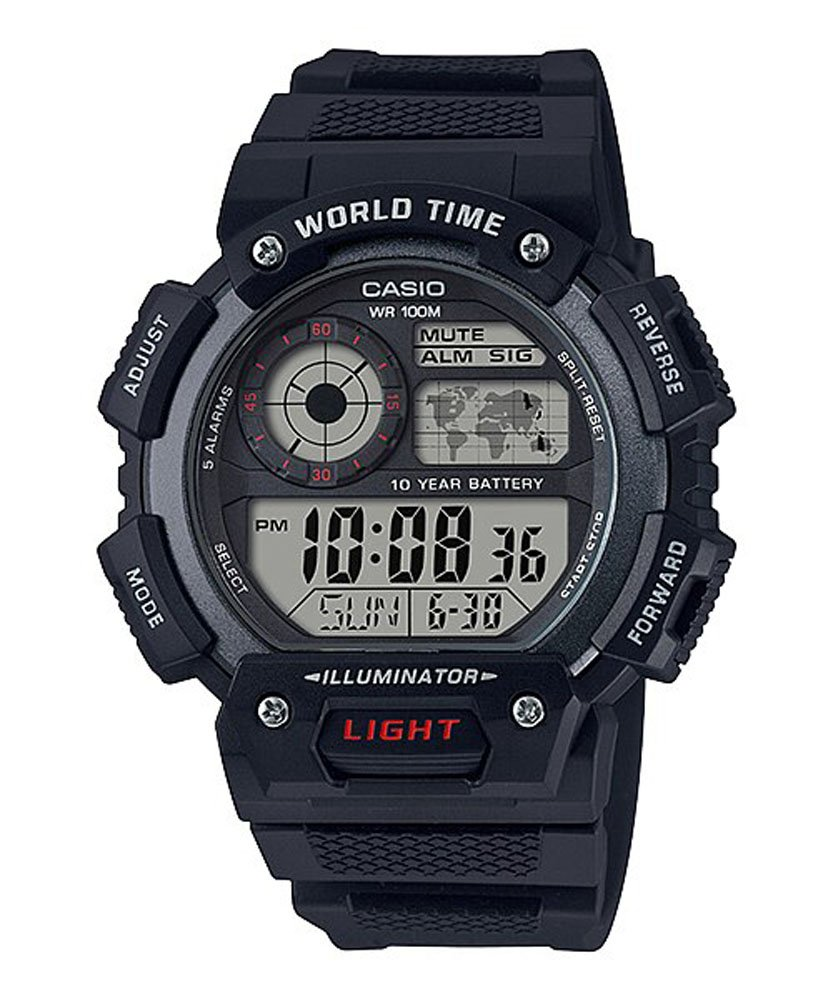 Casio AE1400WH-1A Black Digital Mens Watch