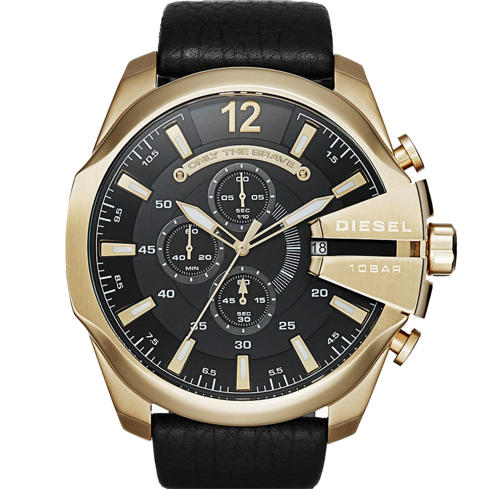Diesel Mega Chief DZ4344 Chronograph Black Mens Watch