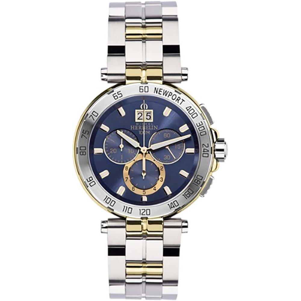 Michel Herbelin Newport 36696/BT35 Chronograph Mens Two Tone Watch