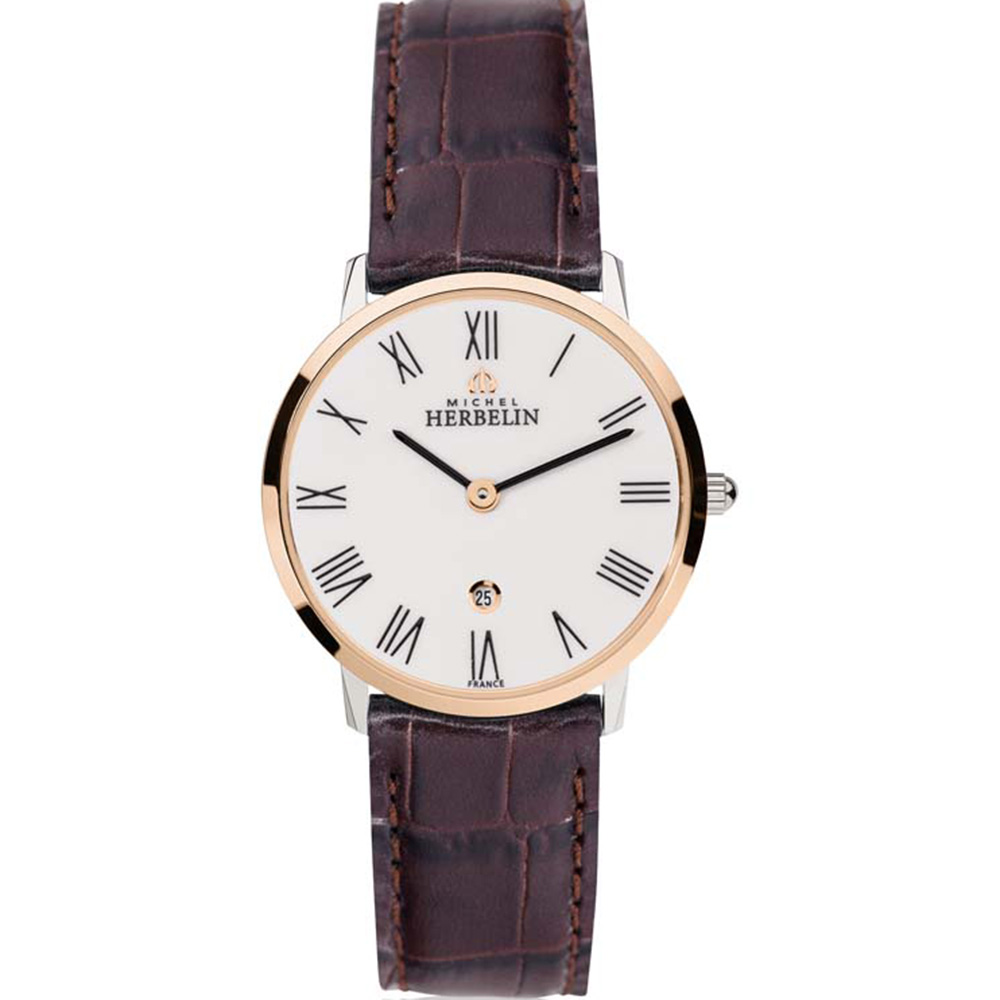 Michel Herbelin City 16915/TR01MA Womans Brown Leather Watch