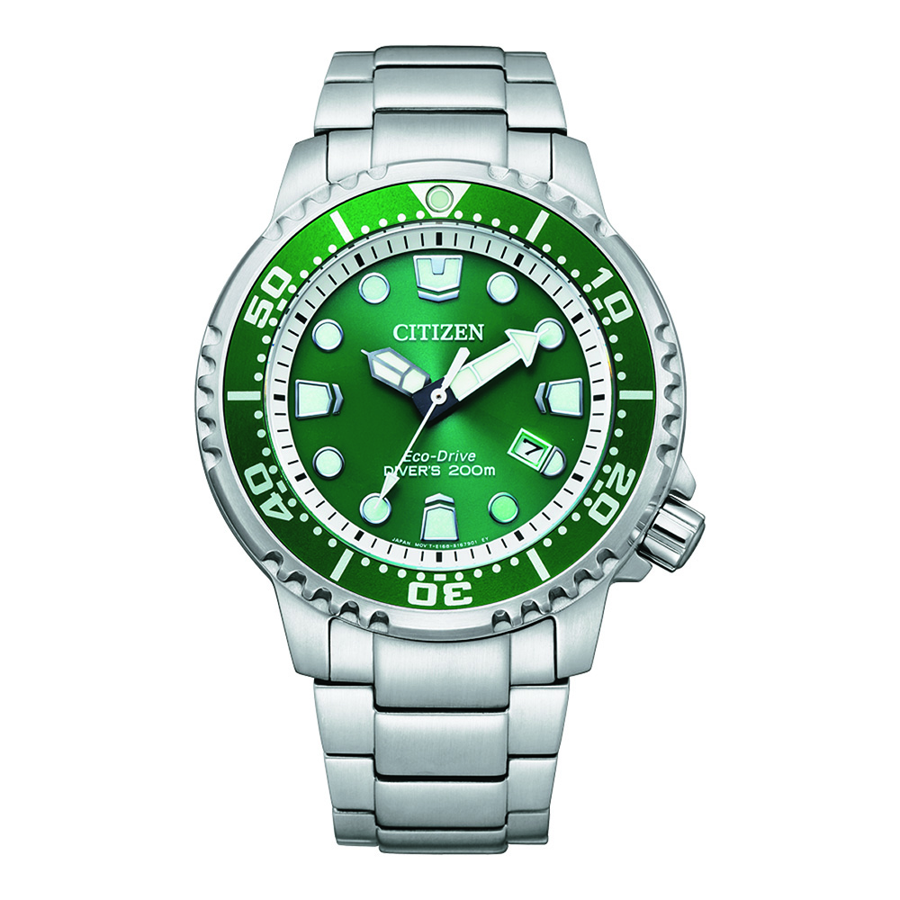 Promaster Marine Edition Green Divers BN0158-58X Stainless Steel Mens Watch