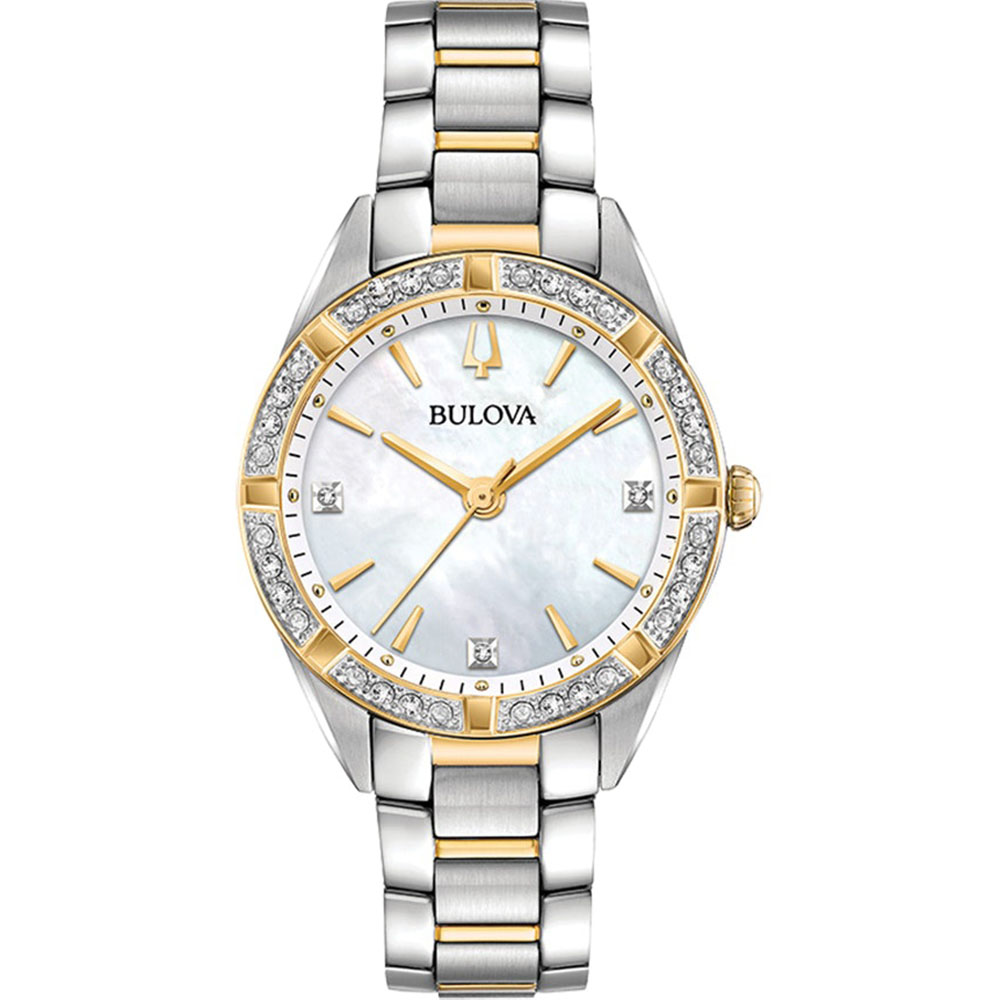 Bulova 98R263 Diamond Two Tone Womens Watch