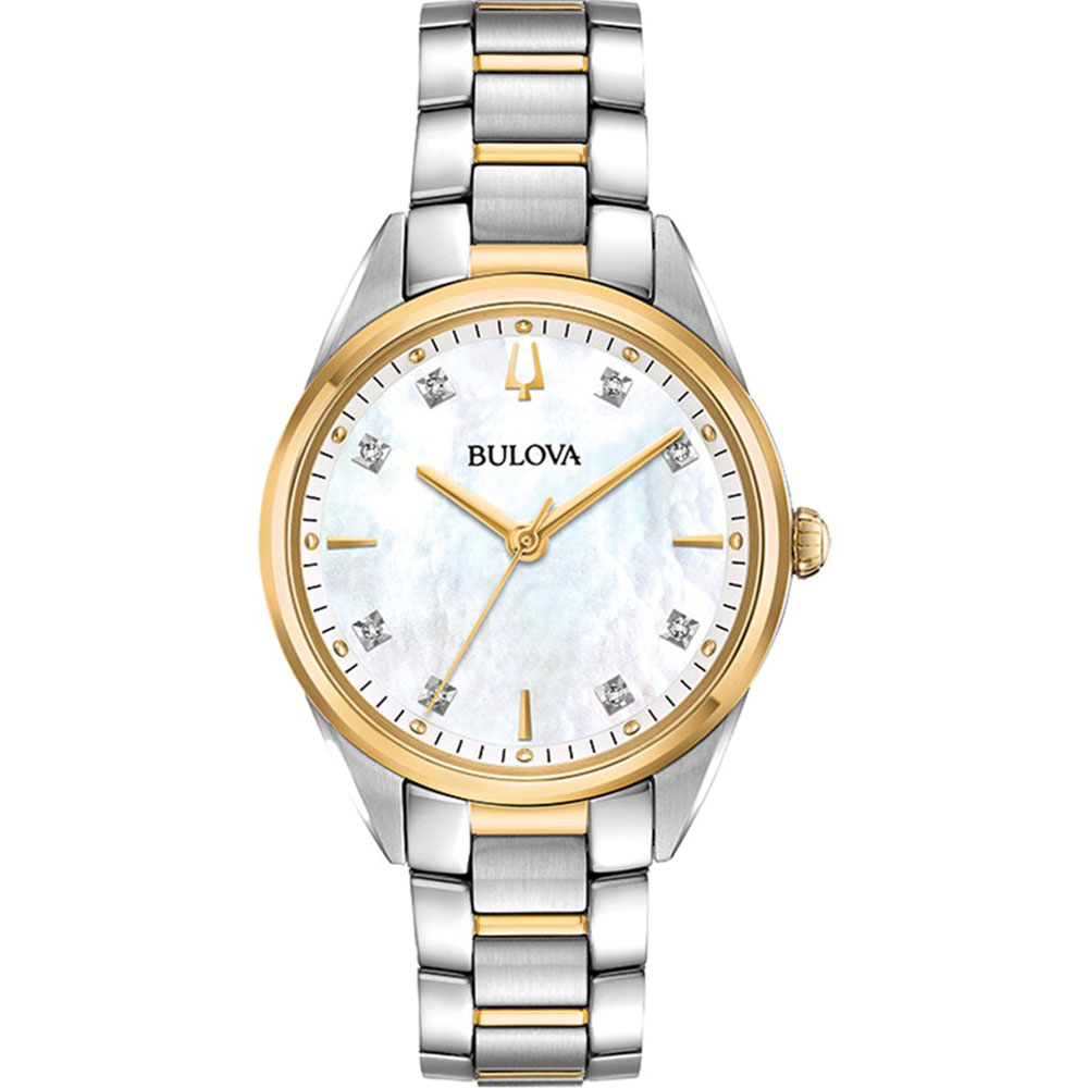 Bulova 98P184 Two Tone Diamond Set Womens Watch