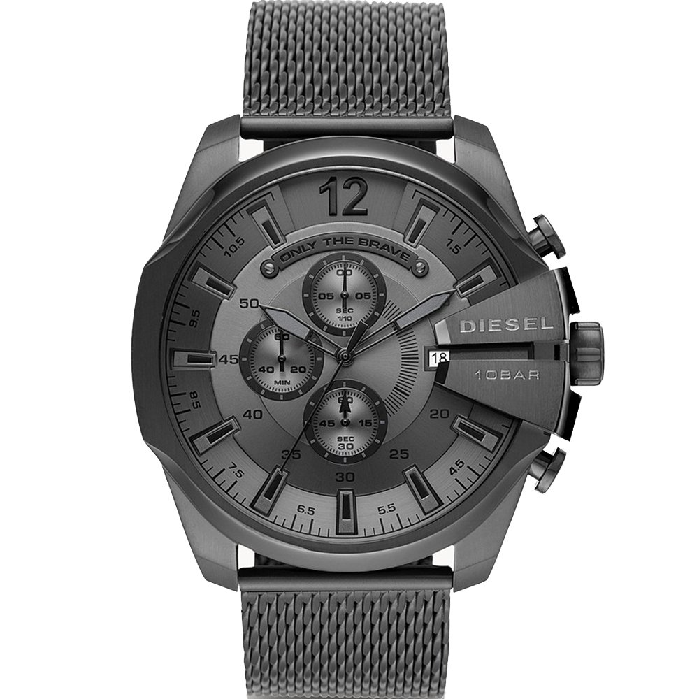 Diesel Mega Chief DZ4527 Chronograph Grey Mens Watch