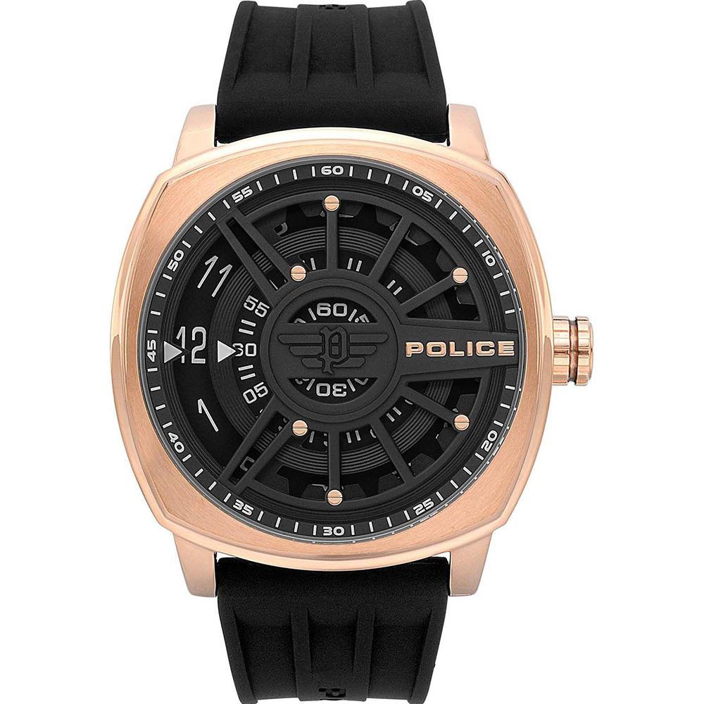 Police Speed Head Black Dial Mens Watch