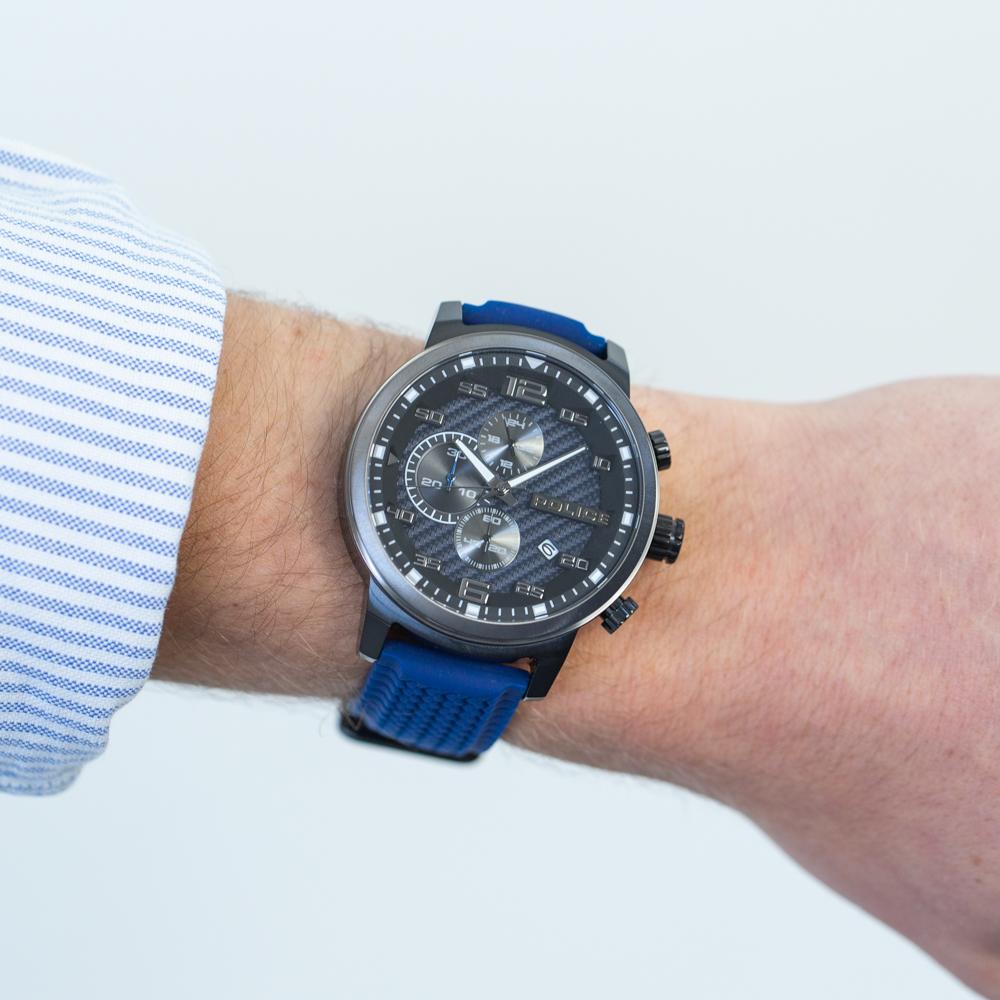 Police Bromo Blue Chronograph Mens Watch