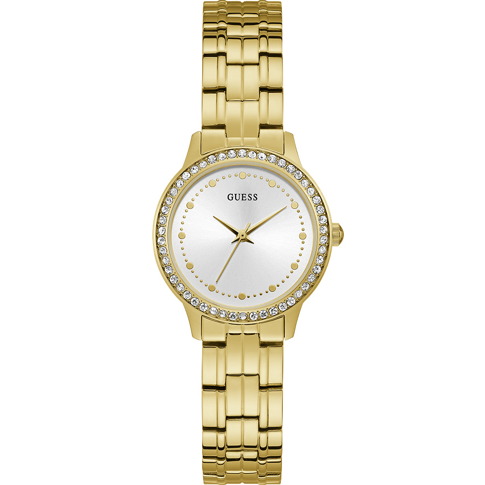 Guess Chelsea W1209L2 Gold Tone Stone Set Womens Watch