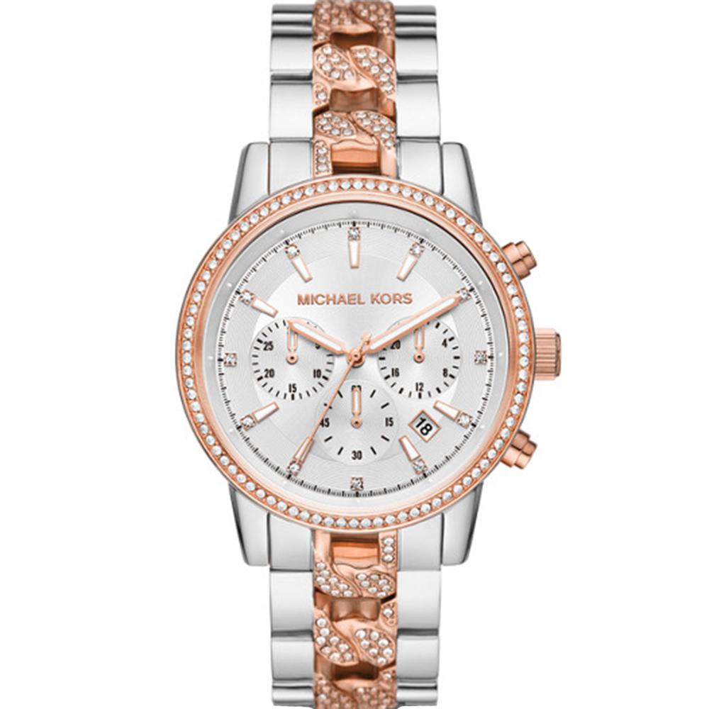 Michael Kors Ritz MK6938 Chronograph Rose & Silver Tone Womens Watch