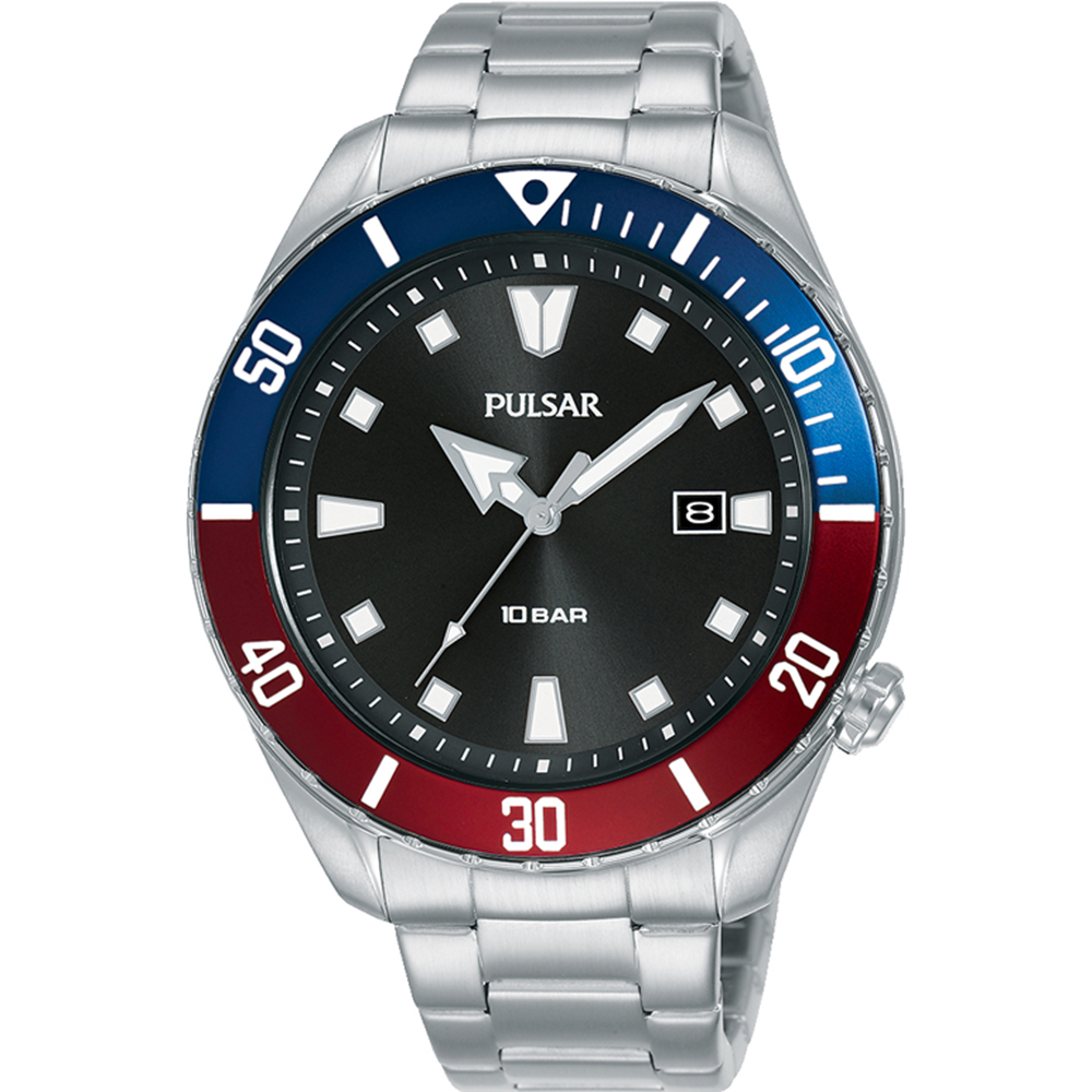 Pulsar PG8305X Stainless Steel Sports Watch