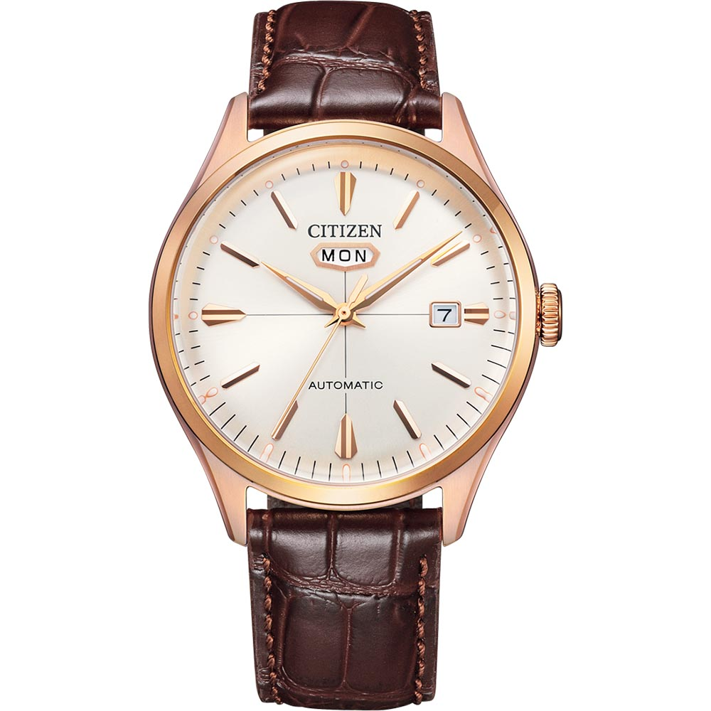 Citizen NH8393-05A Automatic Brown Leather Mens Watch