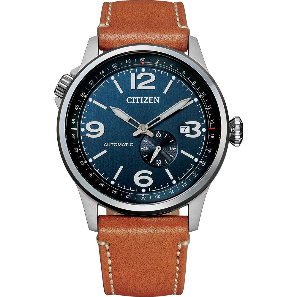 Citizen NJ0140-25L Automatic Brown Leather Mens Watch