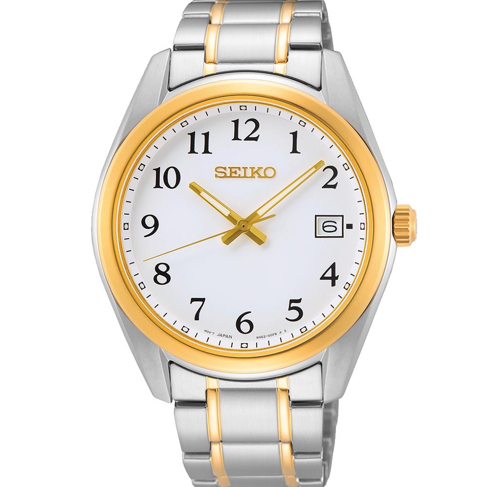 Seiko SUR460P Two Tone Mens Watch