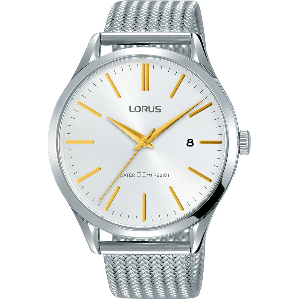 Lorus RS925DX-9 Stainless Steel Mesh Mens Watch