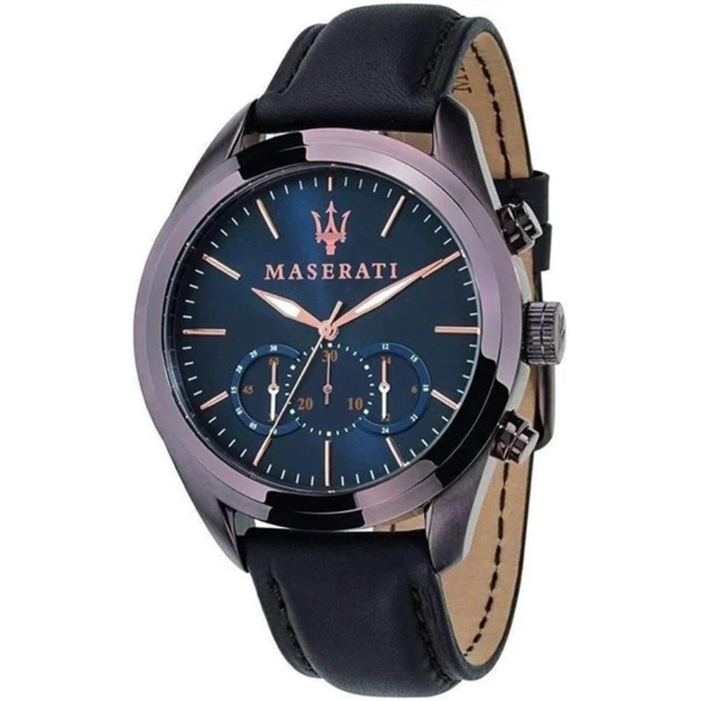 Maserati R8871612008 Traguardo Blue Dial Chronograph Mens Watch