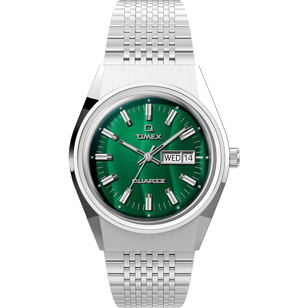 Timex Q Falcon Eye TW2U95400 Green Dial Mens Watch