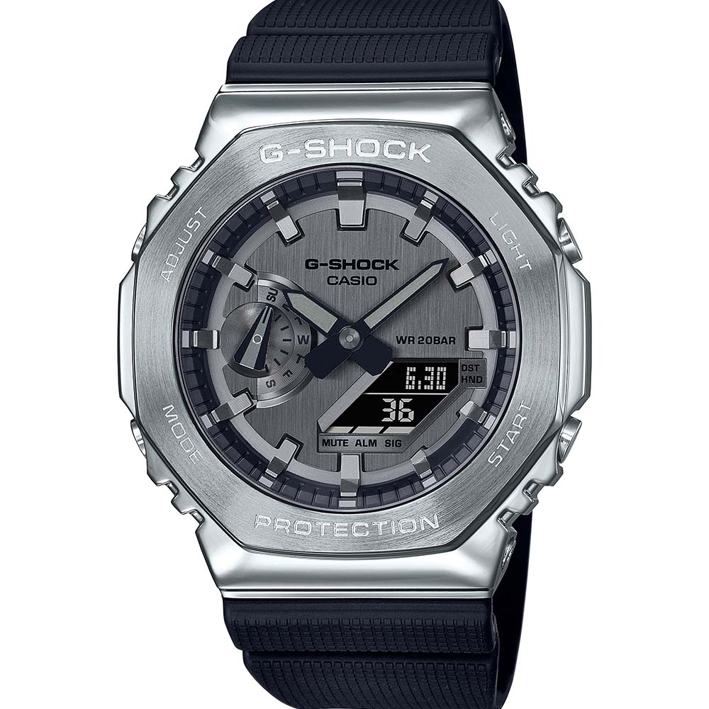 G-Shock GM2100-1A Metal Covered Stainless Steel 'CasiOak'