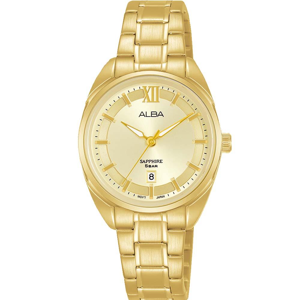Alba AH7Y48X1 Gold Tone Mens Watch