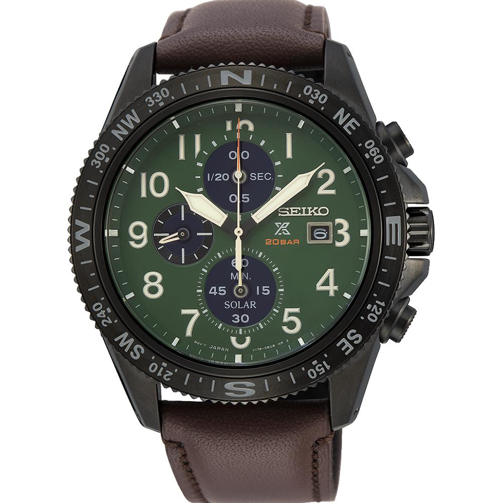 Seiko Prospex SSC739P Chronograph Brown Leather Mens Watch
