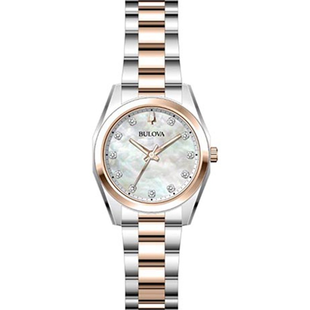 Bulova Surveyor 98P207 Classic  Mother of Pearl Stainless Steel Womens Watch