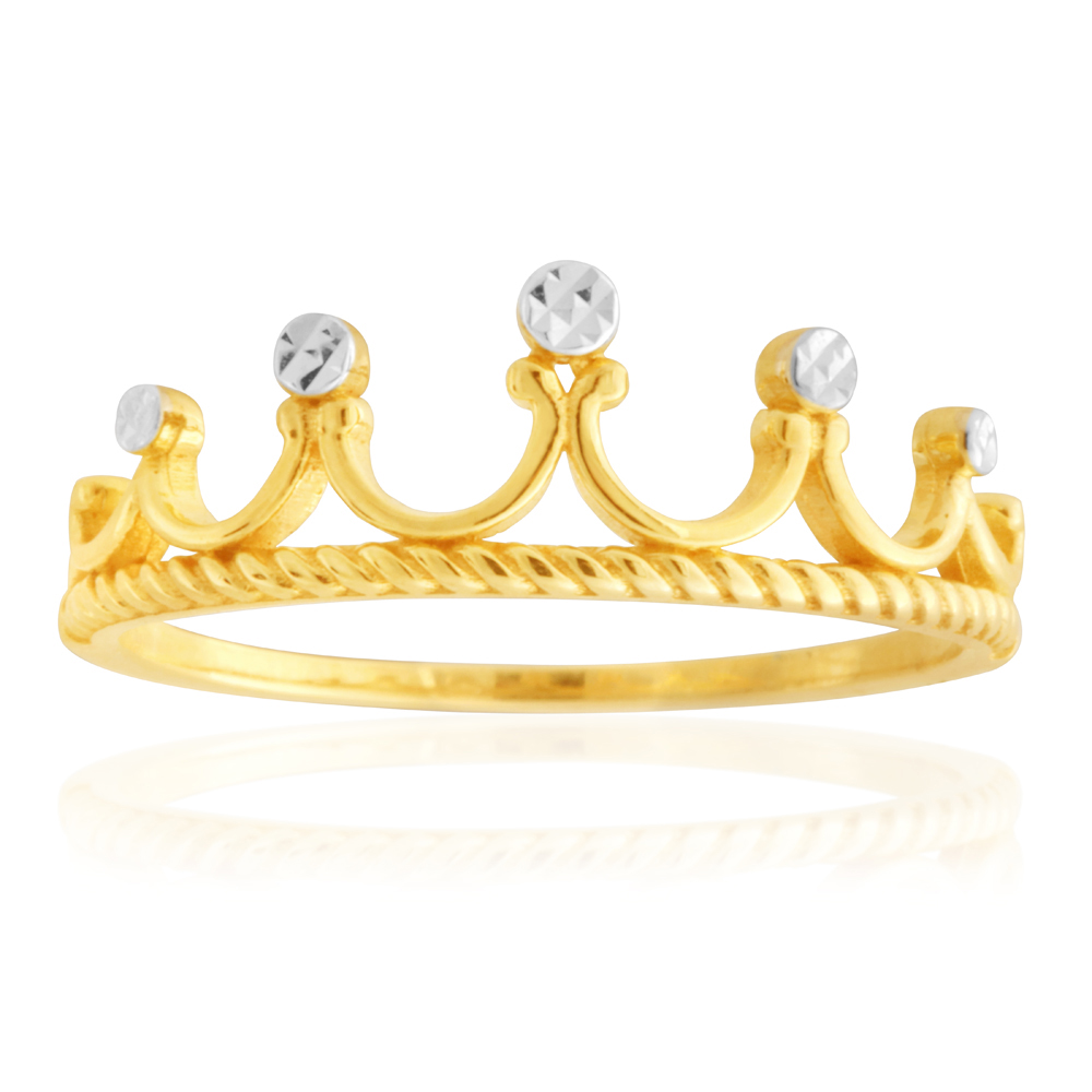 9ct Yellow Gold Crown Ring