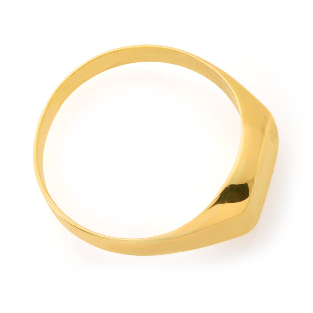 9ct Yellow Gold Signet Gents Ring