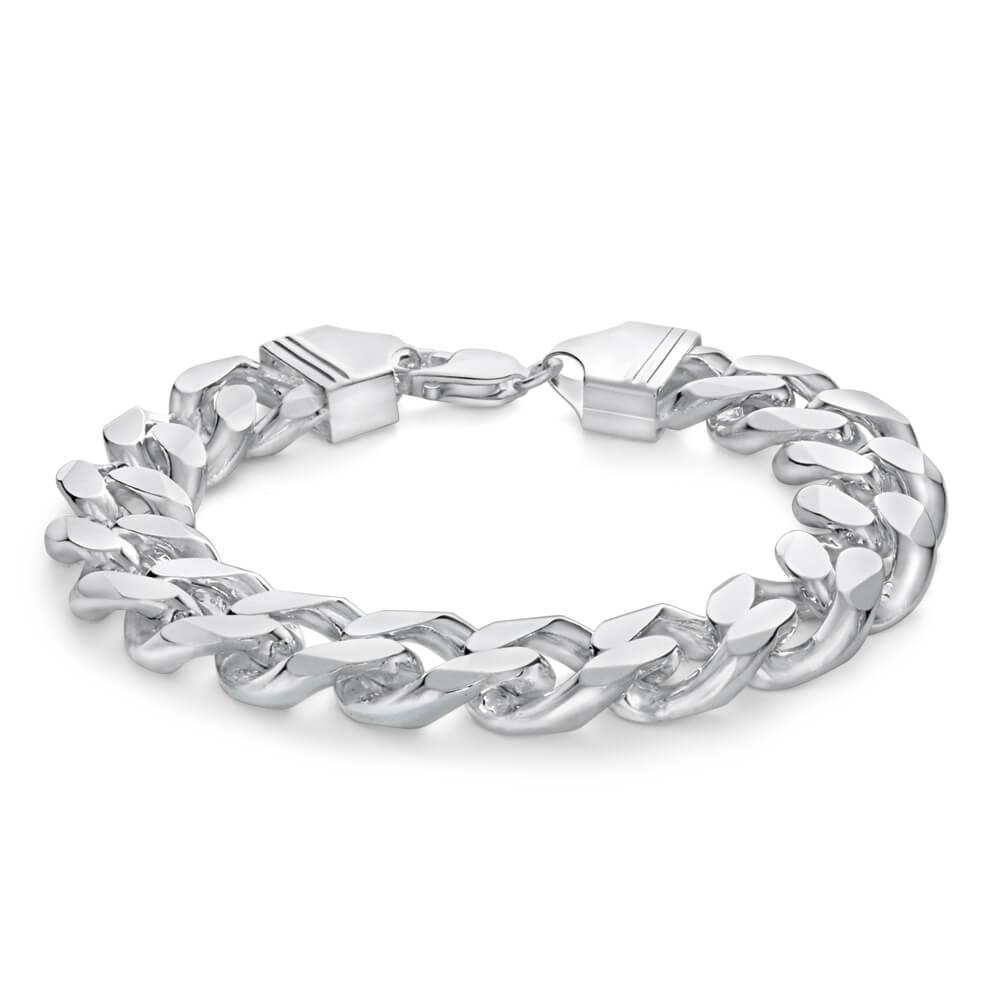 Sterling Silver 23cm 400 Gauge Curb Bracelet