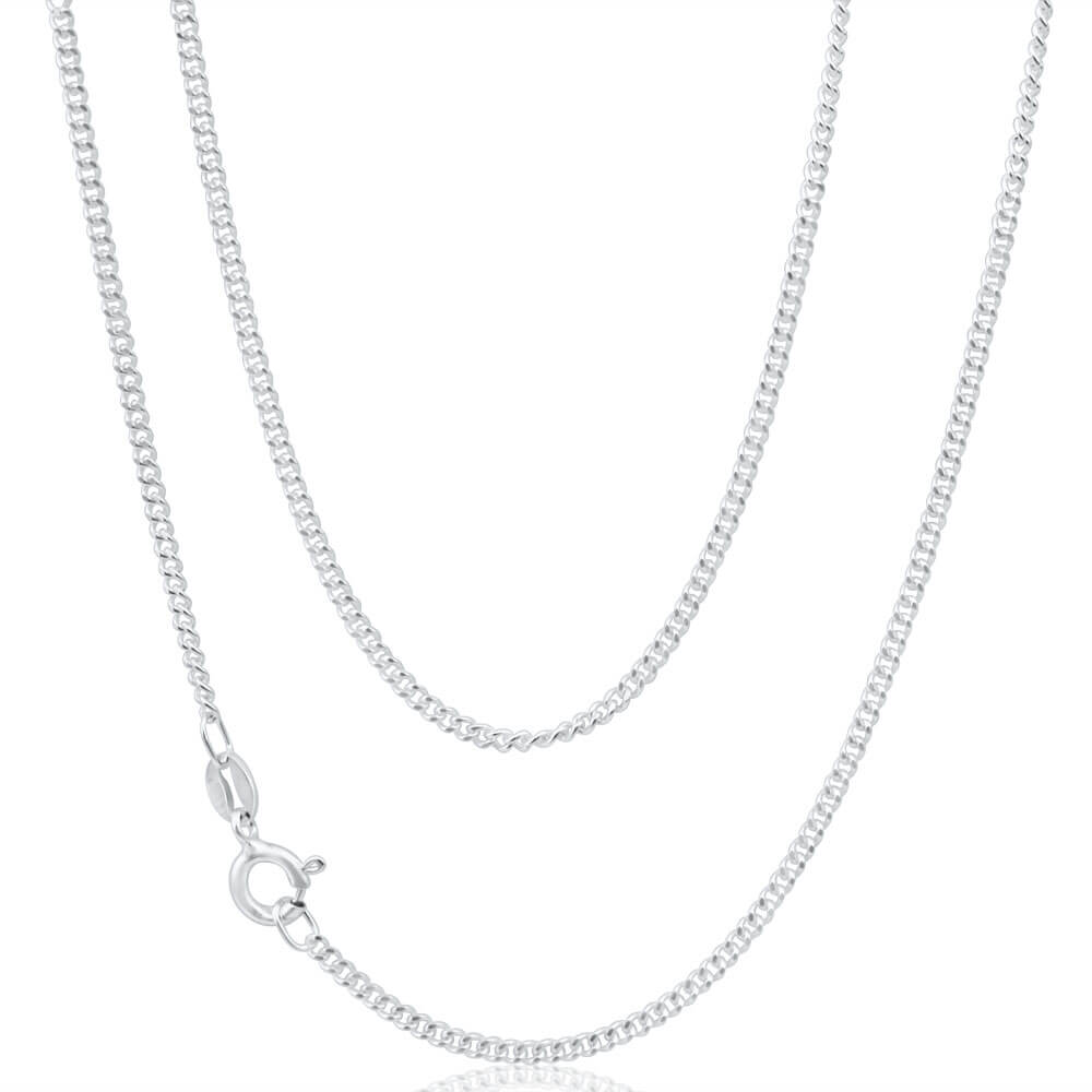 Sterling Silver Curb 50 Gauge Chain 50cm