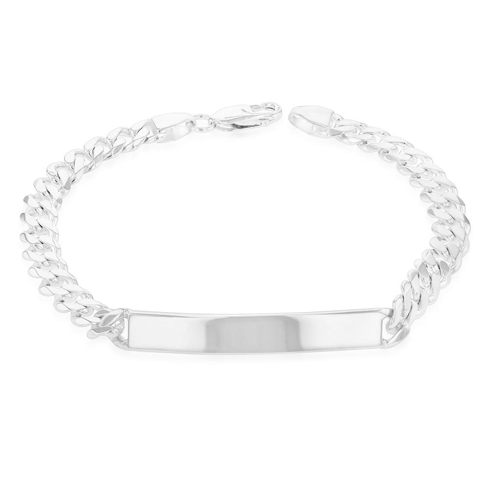 Sterling Silver 21cm ID Curb Bracelet
