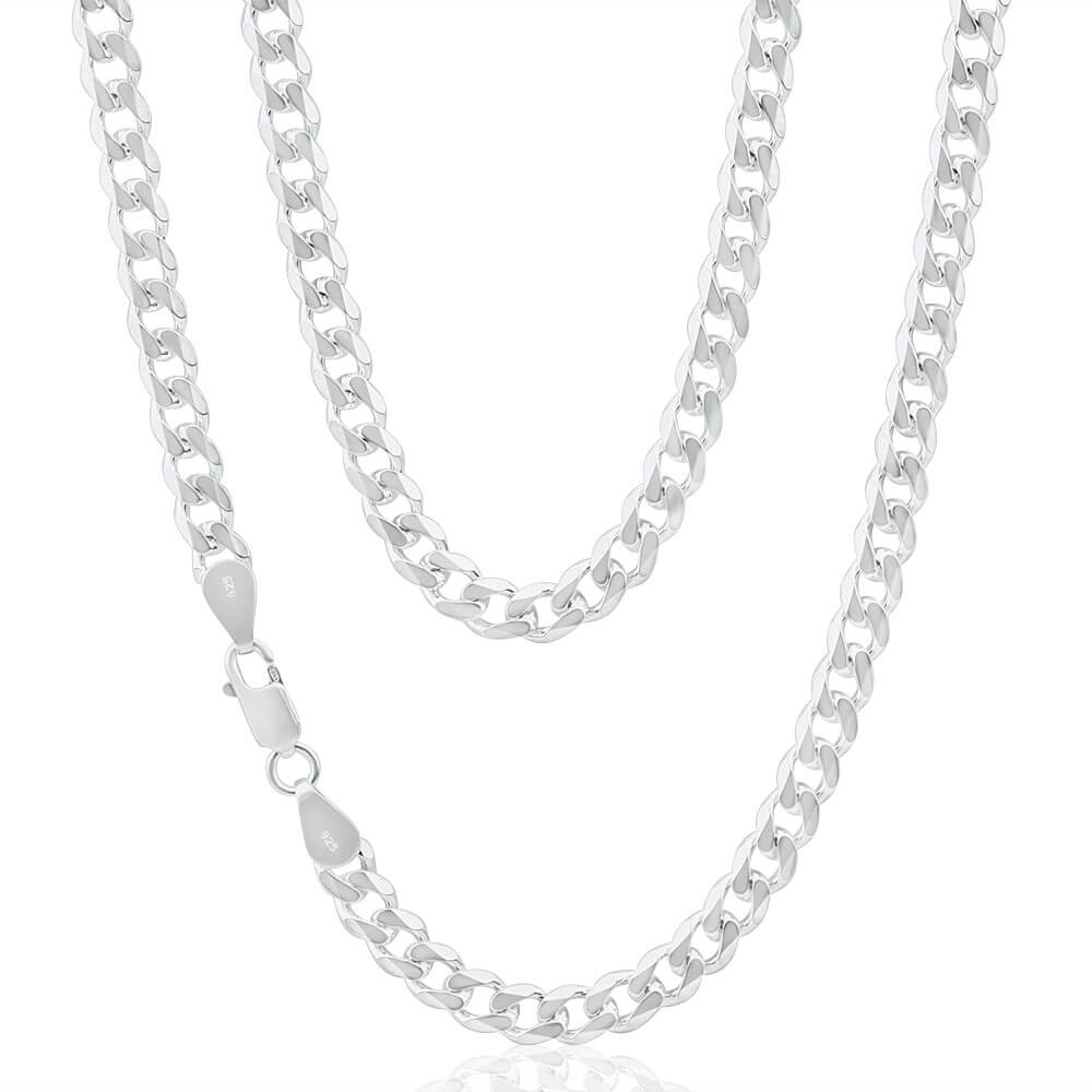 Sterling Silver Curb Heavy 150 Gauge 50cm Chain