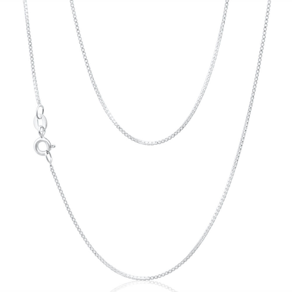 Sterling Silver 90 Gauge 44cm Box Chain
