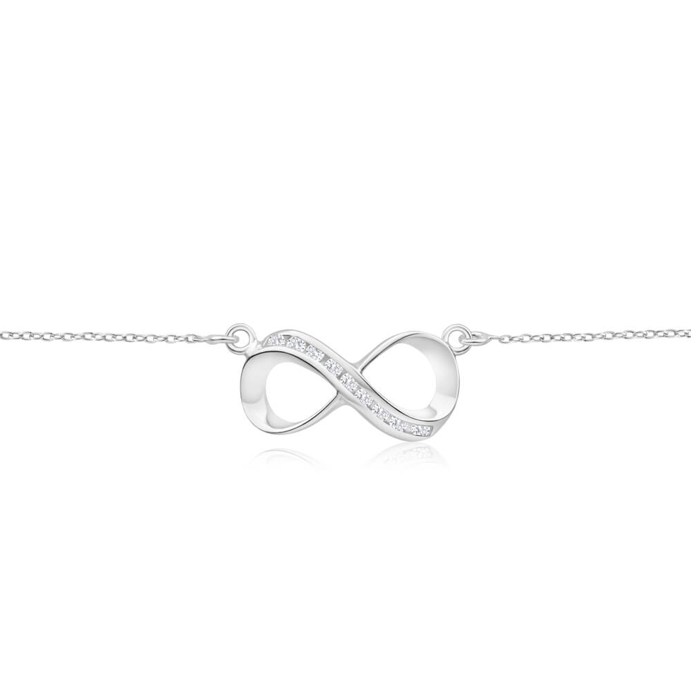 Sterling Silver Cubic Zirconia Pendant With 45cm Chain