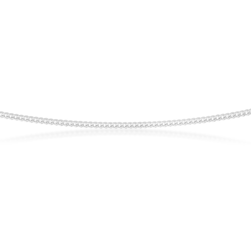Sterling Silver 30 Gauge Curb Chain in 45cm
