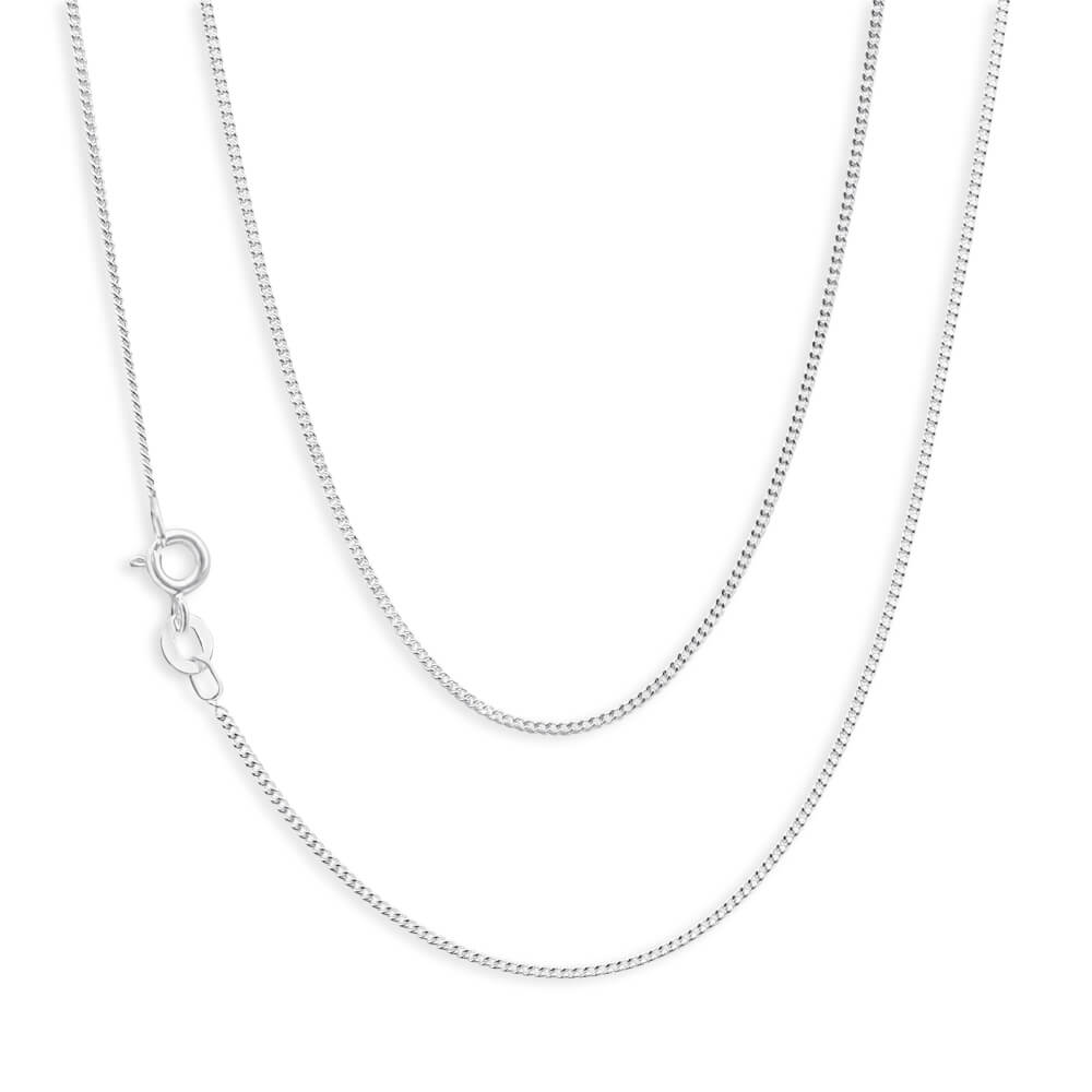 Sterling Silver 30 Gauge Diamond Cut 50cm Chain