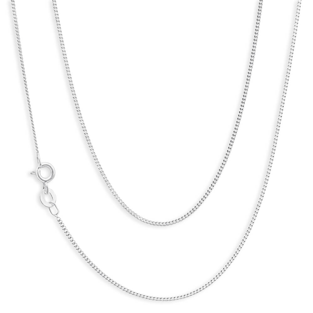Sterling Silver 30 Gauge 55cm Curb Chain