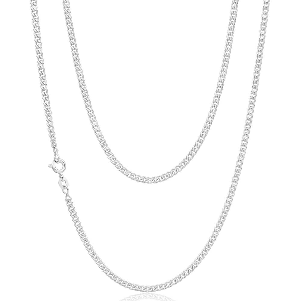 Sterling Silver Curb 80 Gauge 70cm Chain