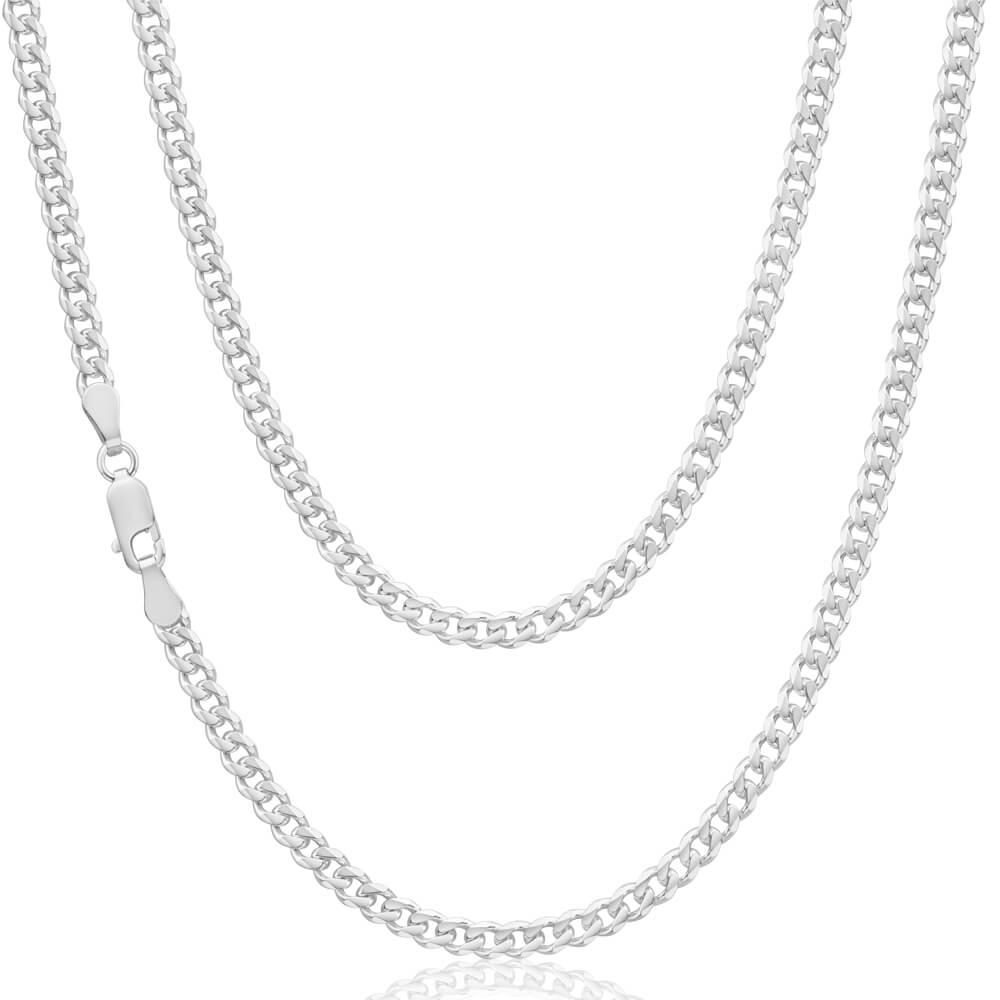 Sterling Silver 100 Gauge Diamond Cut 50cm Curb Chain