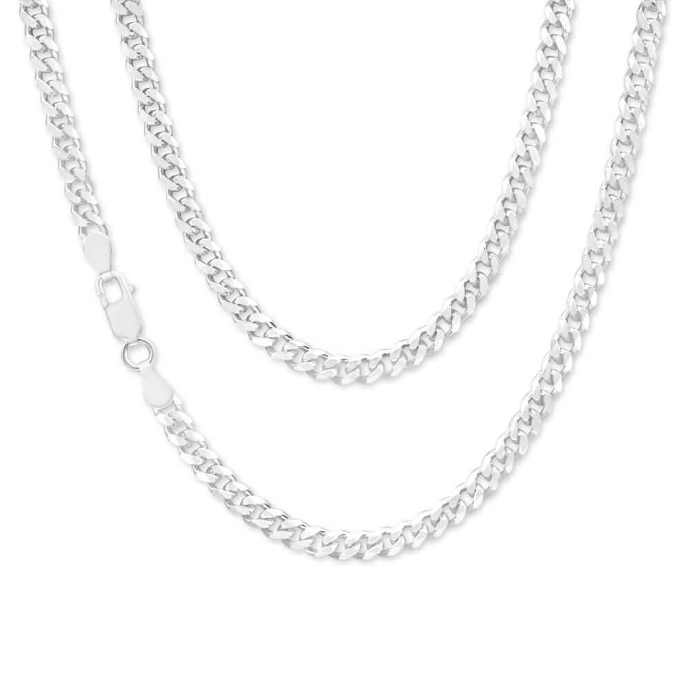 Sterling Silver 120 Gauge Diamond Cut 45cm Curb Chain