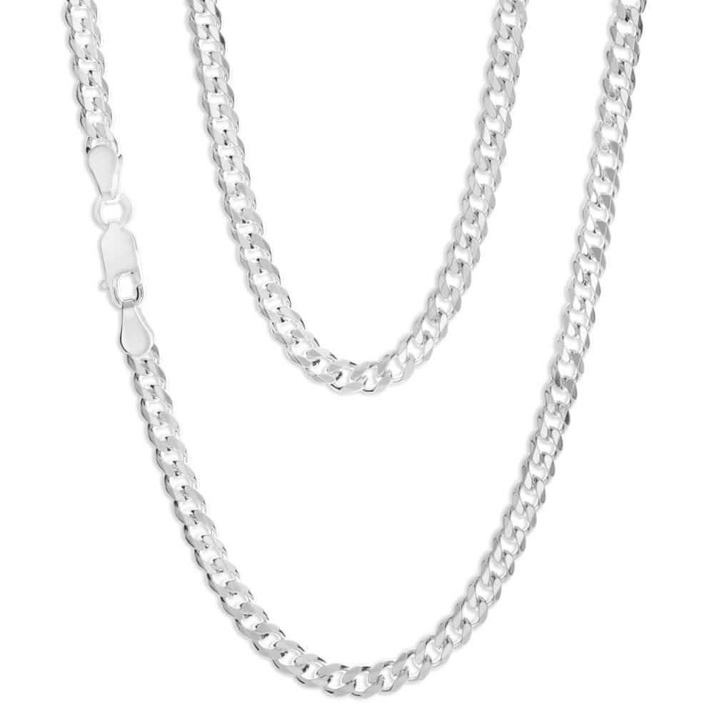 Sterling Silver 55cm 120 Gauge Dicut Curb Chain
