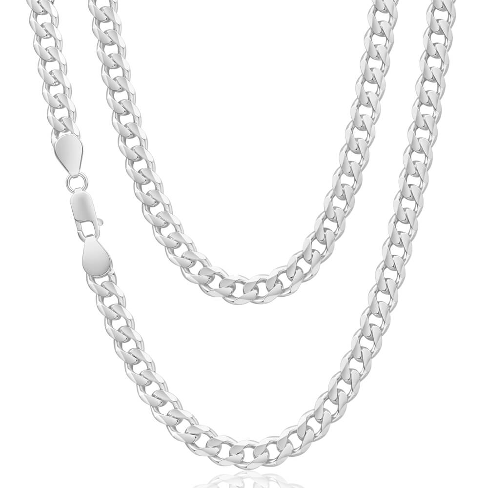 Sterling Silver Unisex Curb 60cm Chain