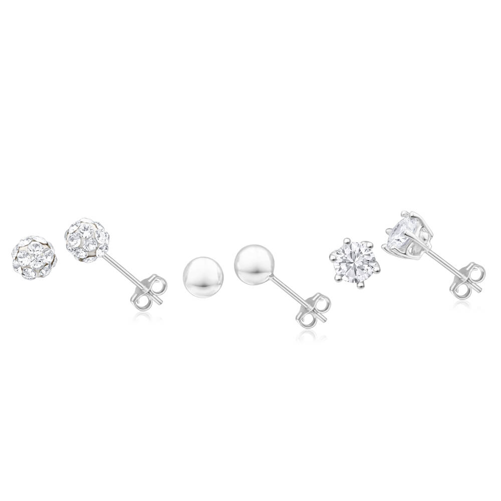 Sterling Silver Crystal + Cubic Zirconia Jewellery Set