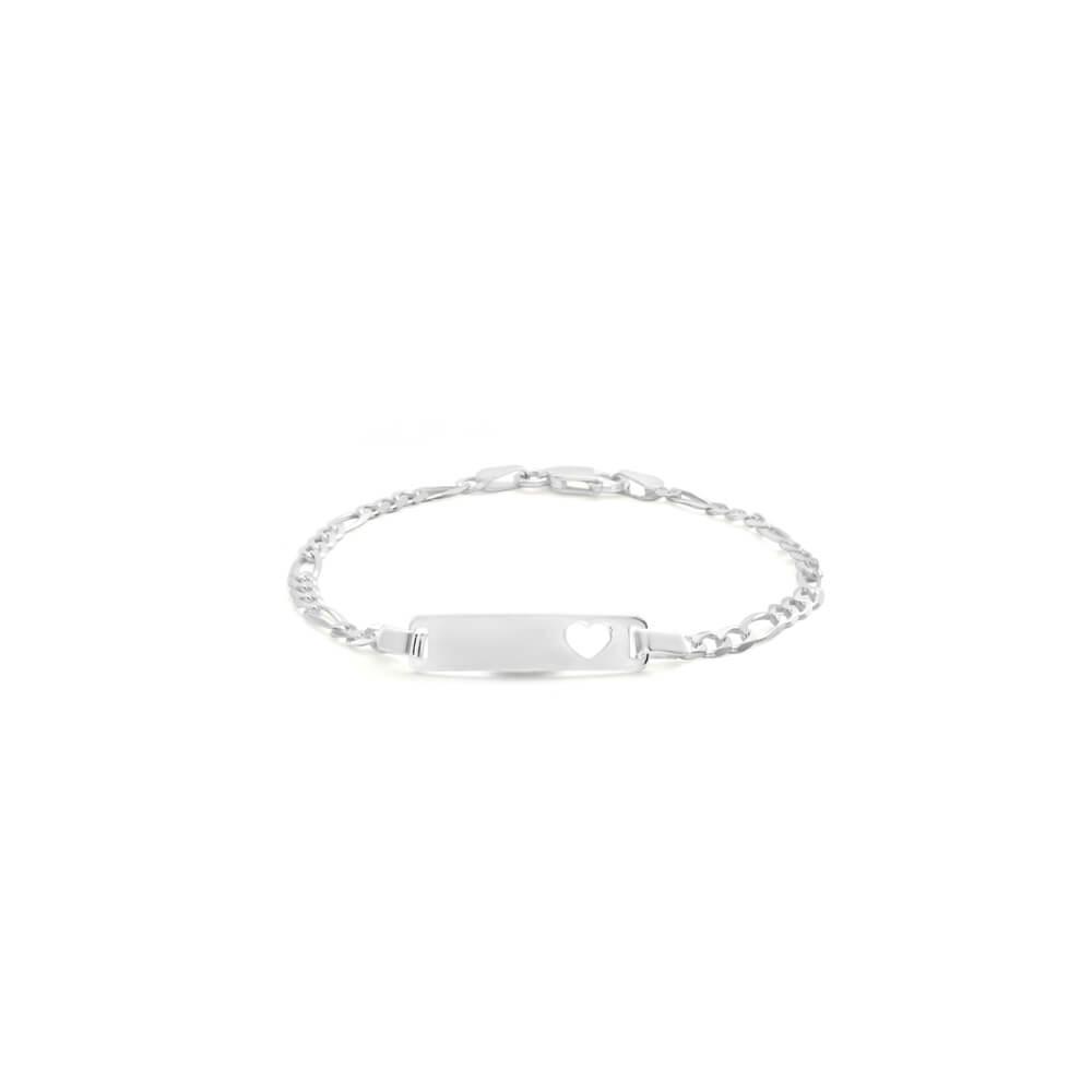 Sterling Silver 16.5cm Figaro Bracelet