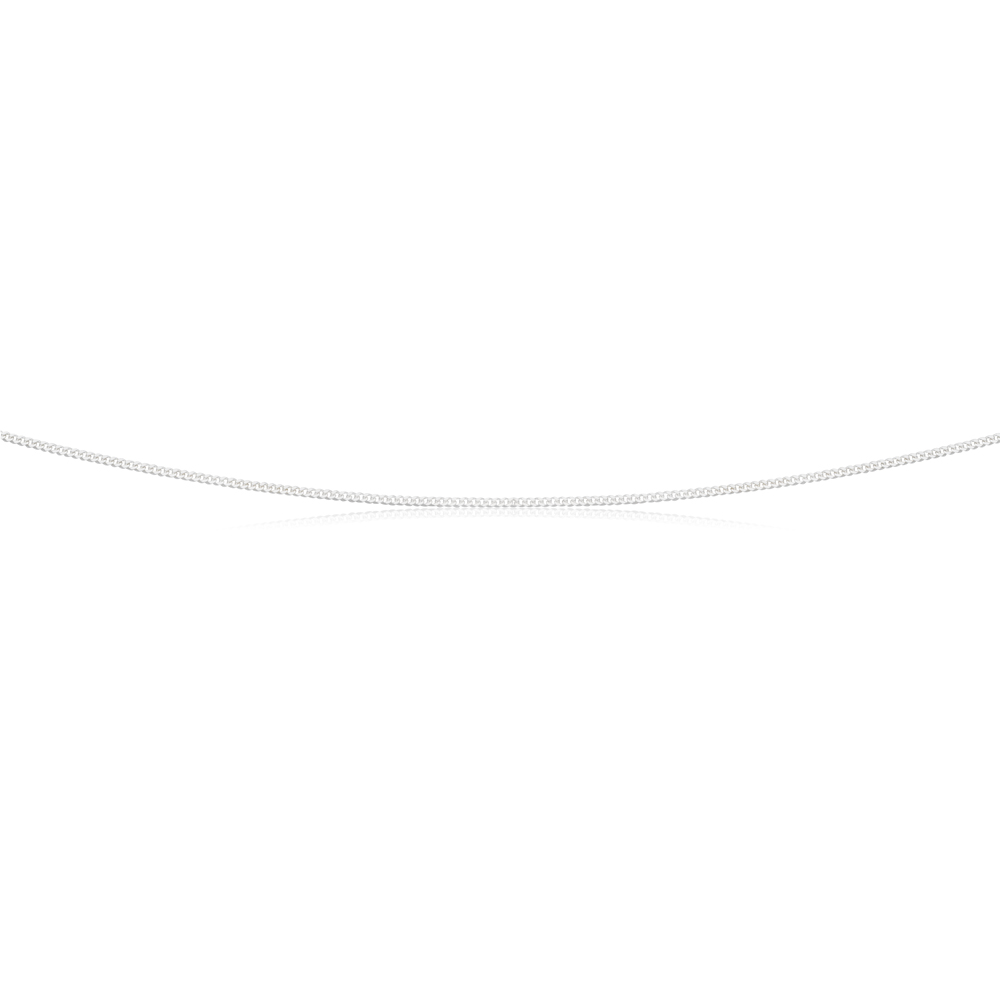 Sterling Silver Curb Chain 30 gauge 45cm