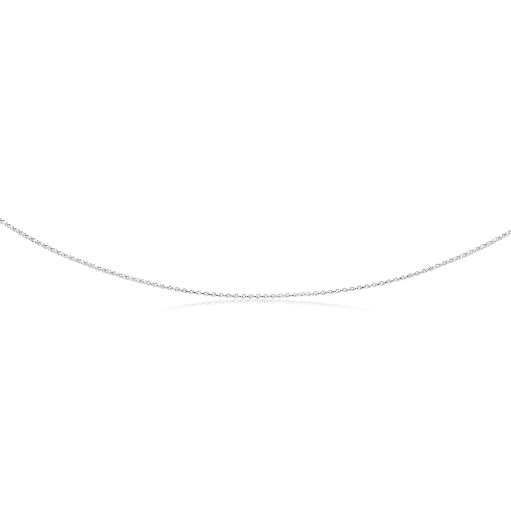 Sterling Silver Rhodium Plated 50cm 60 Gauge Cable Chain