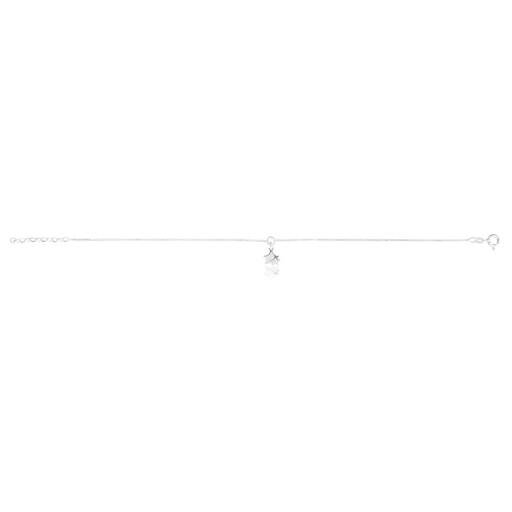 Sterling Silver Stars Charm Anklet 24cm plus 3cm extender