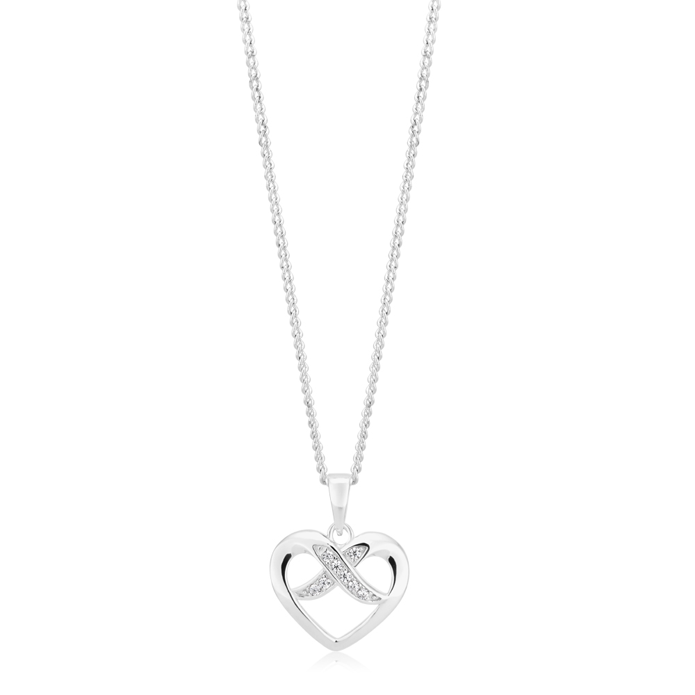 Sterling Silver Heart with Infinity Pendant