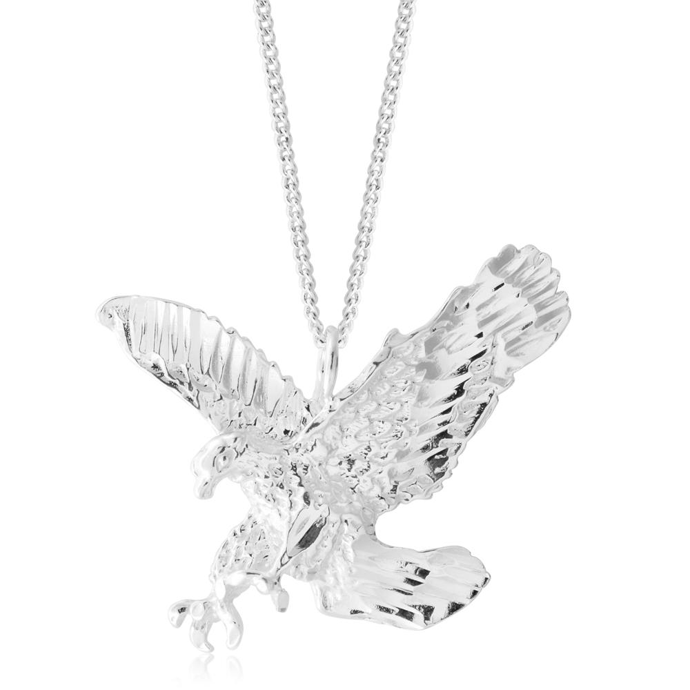 Sterling Silver Landing Eagle Pendant